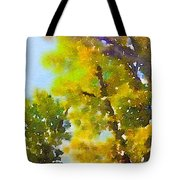 View Of The Willamette From The Trees Tote Bag