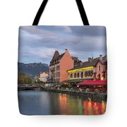View Of Thiou River In Annecy Tote Bag