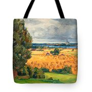 View Of Vadstena From The Surrounding Fields Tote Bag
