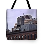 View Of Water Tank From High Line Park Tote Bag