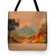 View On Blue Tip Mountain H A Tote Bag