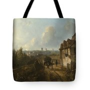 View On Montmartre Tote Bag