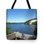 View On The Au Sable Tote Bag