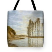 View On The Seine,  Harp Of The Winds , Homer Dodge Martin Tote Bag
