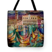 View On Venice Tote Bag