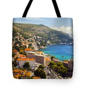 View Over Dubrovnik Coastline Tote Bag