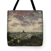 View Over Rooftops Of Paris Tote Bag