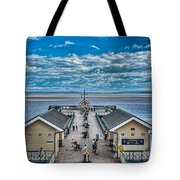 View Over The Pier Tote Bag
