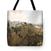 View Over The Tajo Gorge Ronda Home Of Bullfighting Tote Bag