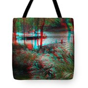 View To The Cove - Use Red-cyan 3d Glasses Tote Bag