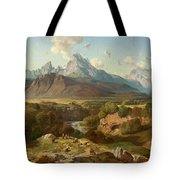 View To Watzmann And Hochkalter Tote Bag
