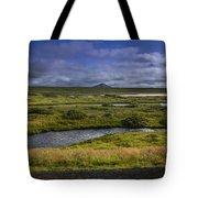 View Towards Lake Myvatn Iceland Tote Bag