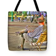 Viewing Man Tote Bag