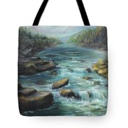 Viewing The Rapids Tote Bag