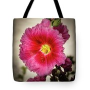 Vignetted Hollyhock Tote Bag