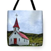 Vik Church And Cemetery - Iceland Tote Bag