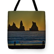 Vik Sea Stacks At Dusk - Iceland Tote Bag