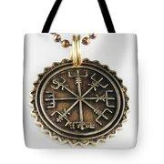 Viking Bronze Vegvisir Pendant Tote Bag