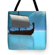 Viking Ship 2 Tote Bag by Corey Ford
