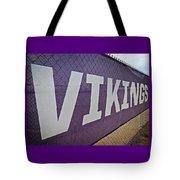 Vikings Banner Tote Bag