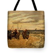 Viktor Ivanovich Zarubin Russian 1866  1928 Fisherwomen In Normandie Tote Bag