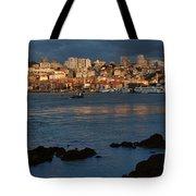 Vila Nova De Gaia In Portugal At Sunset Tote Bag