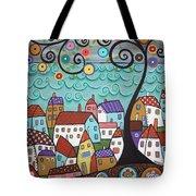 Village By The Sea Tote Bag by Karla Gerard