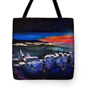 Village In A Winter Morninglight Tote Bag