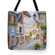 Village In Alsace Tote Bag