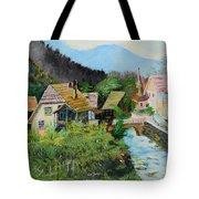 Village In The Austrian Alps Tote Bag