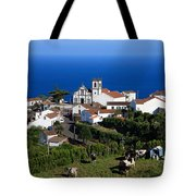 Village In The Azores Tote Bag