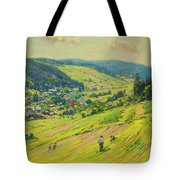 Village In The Foothills Tote Bag