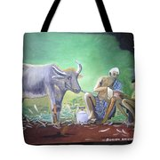 Village Life Tote Bag