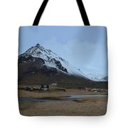 Village Of Arnastapi At The Base Of Mount Stapafell Tote Bag