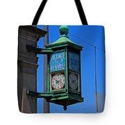 Village Of Elmore Clock-vertical Tote Bag