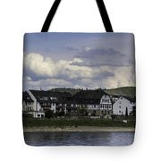 Village Of Spay And Marksburg Castle Tote Bag