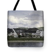 Village Of Spay Germany And Marksburg Castle Tote Bag