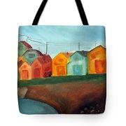 Village On The Coast Tote Bag