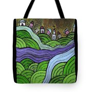 Village On The Hill Tote Bag