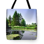 Village Pond At Tissington Tote Bag