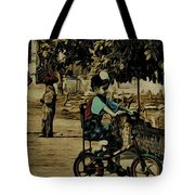 Village Rides Tote Bag