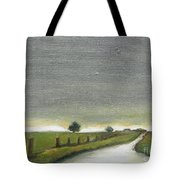 Village Road In The Twilight  Tote Bag