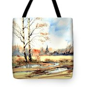 Village Scene I Tote Bag