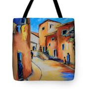 Village Street In Tuscany Tote Bag