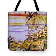 Village Sunset  Tote Bag