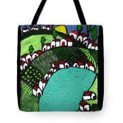 Villlage By The Pond Tote Bag