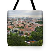 Vilnius Panorama From The Hill Of Three Crosses Tote Bag