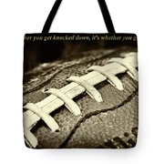 Vince Lombardi Quote Tote Bag