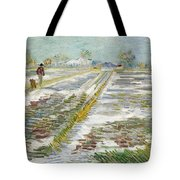 Vincent Van Gogh, Landscape With Snow Tote Bag