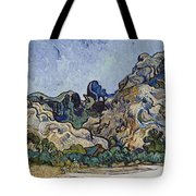 Vincent Van Gogh  Mountains At Saint Remy Tote Bag